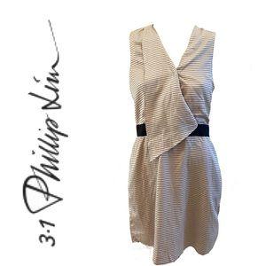 3.1 PHILLIP LIM silk cotton blend striped dress